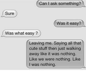 quote, text, and sad image