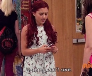 ariana grande, victorious, and hashtag image
