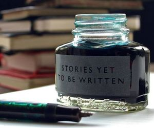 story, ink, and book image