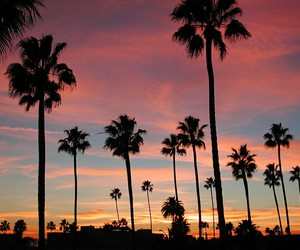 california, sunset, and sky image
