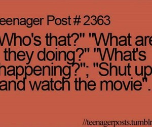 teenager post, funny, and movie image