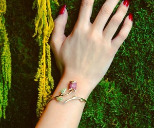 bracelet, hand, and nails image