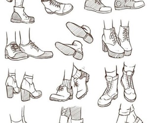 drawing, shoes, and art image