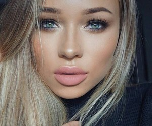 blue eyes, makeup idea, and hairstyle image