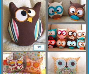 owls, sewing, and diy pillows image