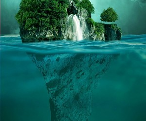 Island and sea image
