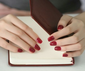 1940s, diary, and red nail polish image