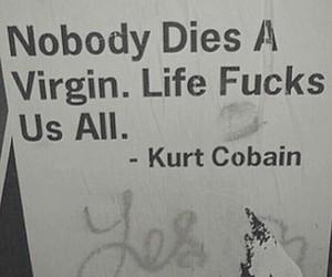 grunge, kurt cobain, and quote image
