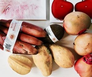 avocado, papaya, and vegan image