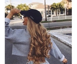 girl, hair, and look image