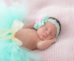 baby, teal, and love image