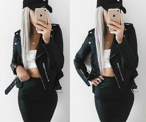 apple, cap, and fashion image