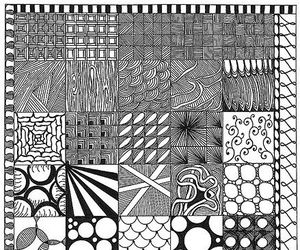 black and white, line, and pattern image