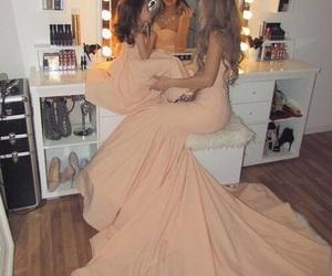 dress, makeup, and mother image