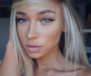 blue eyes, eyeliner, and instagram image