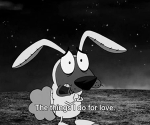 love, courage, and dog image