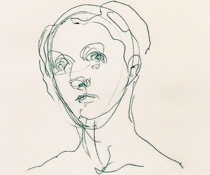 art, face, and drowing image