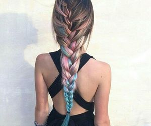 braids, colours, and grunge image