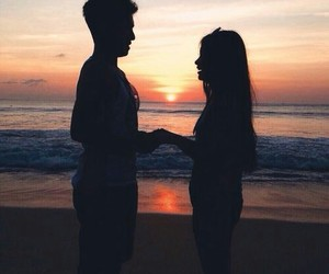 beach, promise, and couple image
