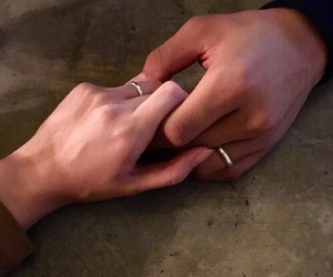 couple, forever, and rings image