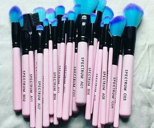 Brushes, blue, and pink image
