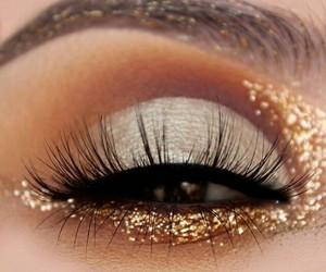 gold, makeup, and girl image