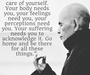 meditation, monk, and Thich Nhat Hanh image