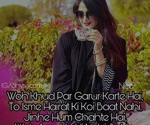attitude, luv, and shayari image