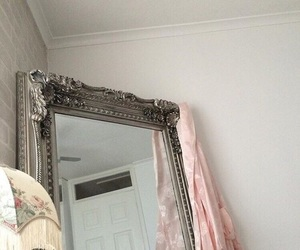 mirror, pale, and pink image