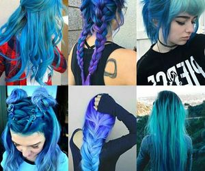 colors and hair image