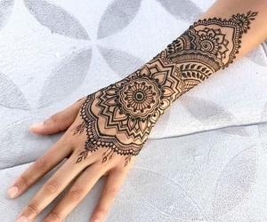 tattoo, belleza, and henna image