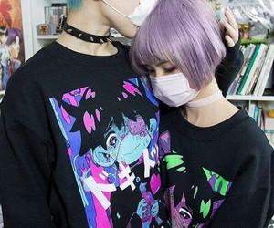 couple, japan, and grunge image