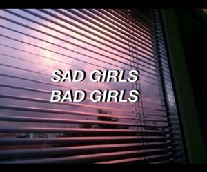 bad, girls, and sad image