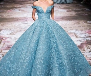 dress, blue, and princess image