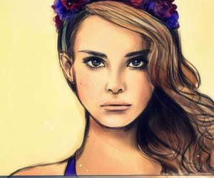 painting and lana del rey image