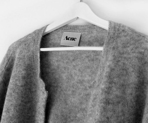 acne, fashion, and cardigan image