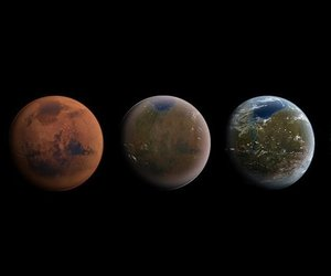 astronomy, earth, and marte image