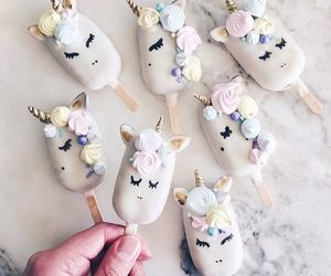 unicorn, ice cream, and food image