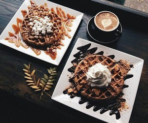 chocolate, love, and coffee image