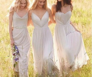 bridesmaid, girls, and dress image
