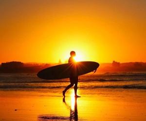 australia, ocean, and sunset image