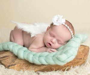 baby, photography, and ángel image