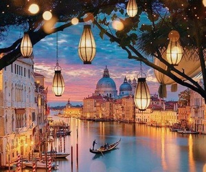 light, venice, and italy image