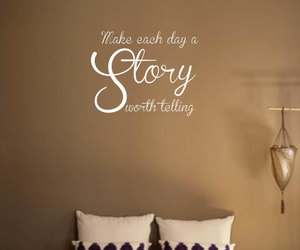 bedroom decor, wall decor, and wall words image