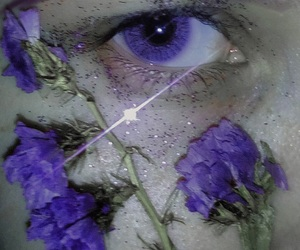 eyes, grunge, and purple image
