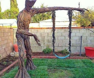 groot, swing, and guardians of the galaxy image