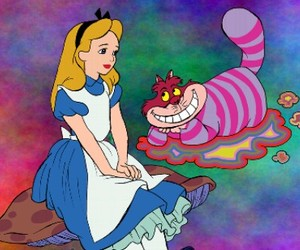alice, cat, and color image