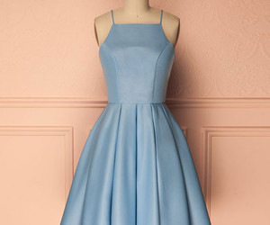 blue homecoming dress, simple homecoming dress, and short prom dress image