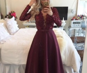 dress, beautiful, and Prom image