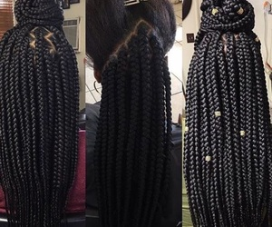 braids, box braids, and beauty image